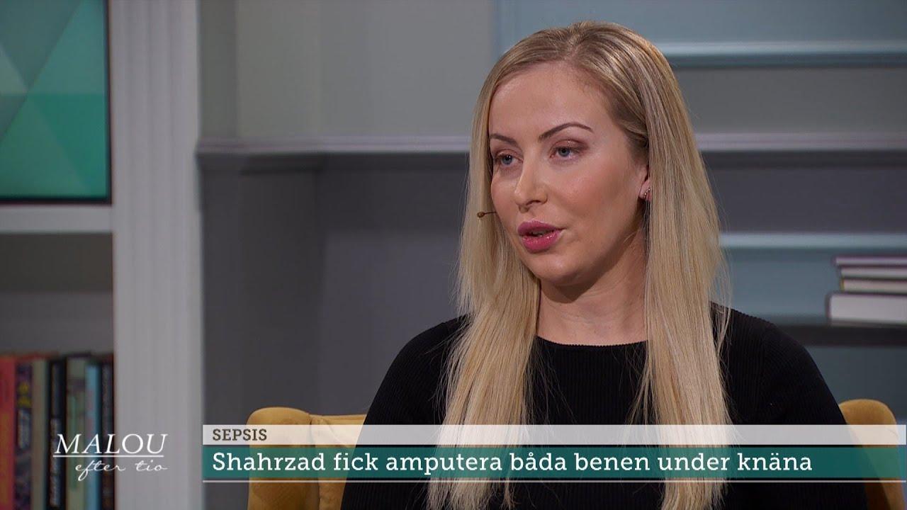 """Kroppen stötte bort mina ben – de blev svarta"" - Malou Efter tio (TV4)"