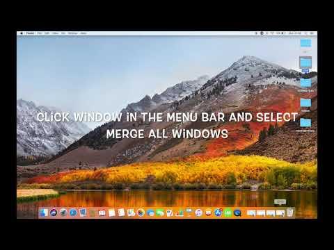HOW TO MERGE WINDOWS ON MAC IN HIGH SIERRA
