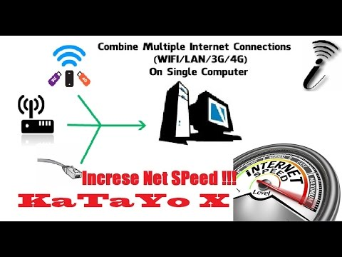 How To Combine Multiple Internet Connections Speed in Pc For Free !!!