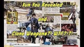 Dynasty Warriors 9 News!! Xun You Revealed!! Clone Weapons For Xiahou Yuan and Lu Lingqi WTF!!