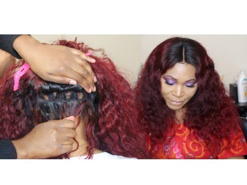 HOW TO SEW DOWN A LACE CLOSURE WIG TUTORIAL| NATURAL RESULTS| FT. MERCY'S HAIR EXTENSIONS