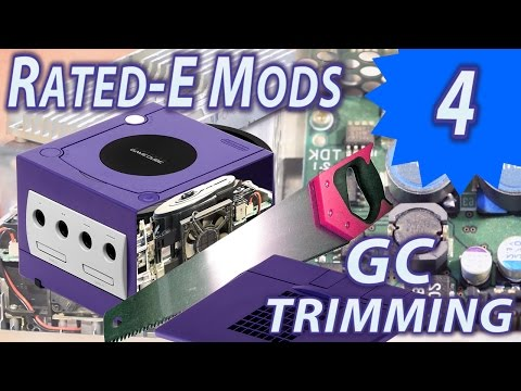 Gamecube teardown and Trimming - Rated-E Mods 4