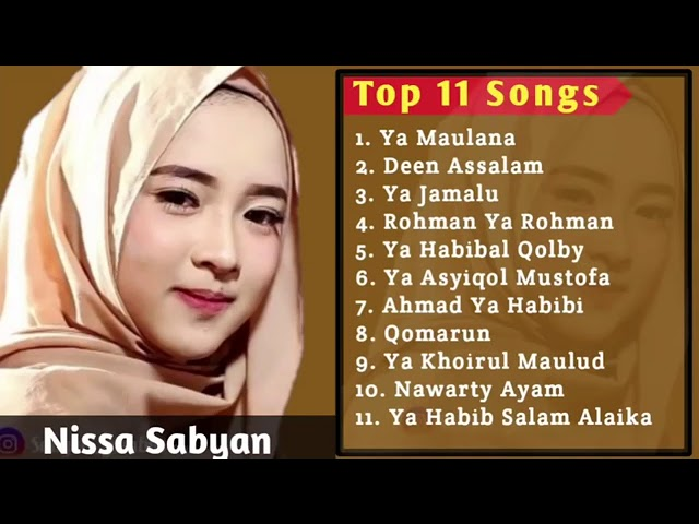 Download #TOP 11 Songs Nissa Sabyan MP3 Gratis