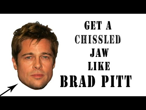 How To Get A Chiseled Jaw Like Brad Pitt