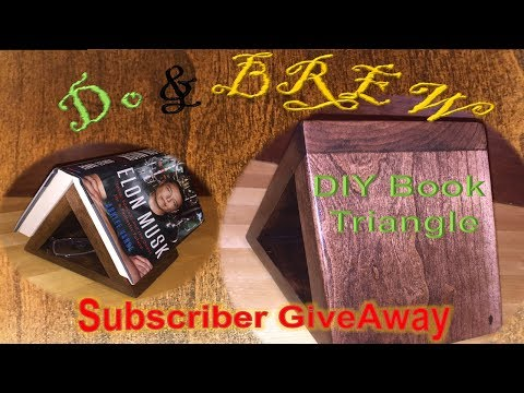 How To Build Wooden Bookmark Triangle or Tablet Stand & GiveAway