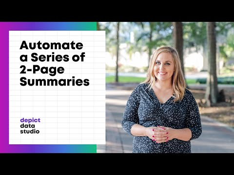 How to Automate a Series of Matching Two-Page Summaries