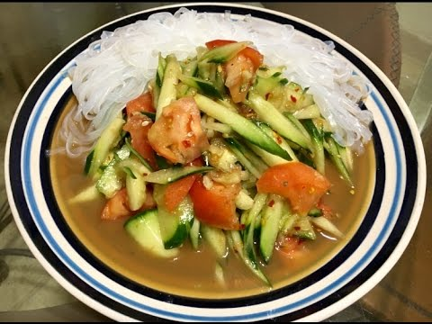 How to make tum mark tang  cucumber salad ( LAO FOOD ) HOME MADE BY KAYSONE