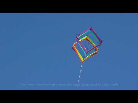 Wavy Rainbow Traditional Box kite