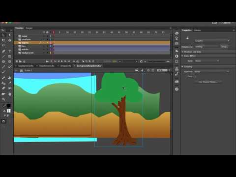 Adding Details to Background Looping Animation Adobe Animate Tutorial