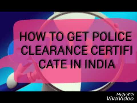HOW TO GET POLICE CLEARANCE CERTIFICATE(PCC) (TAMIL) PROCEDURE IN INDIA