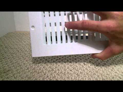 How to install a floor register in carpet