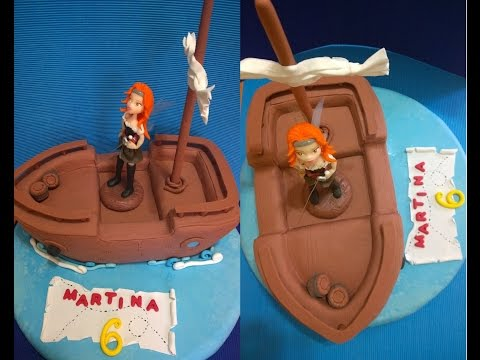Torta Barco Pirata, Pirate cake, Hada Zarina,