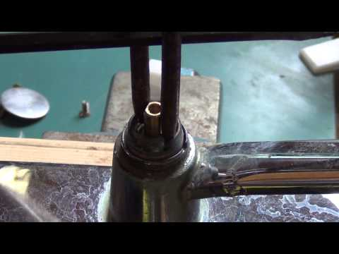 Removing a moen cartridge from the faucet! If the plastic tool should fail you! Plumbing tips!