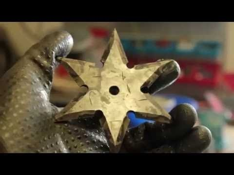 selfmade NINJA THROWING STARS (shuriken)
