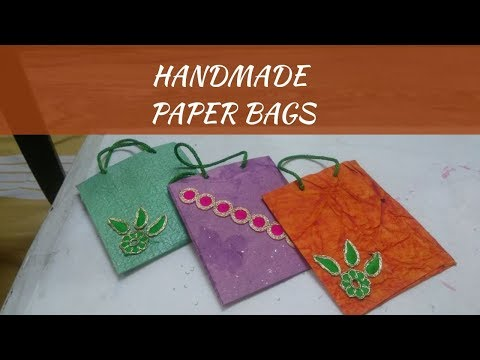 Handmade Paper Bags || Make Paper Handbag With Little Learners Corner