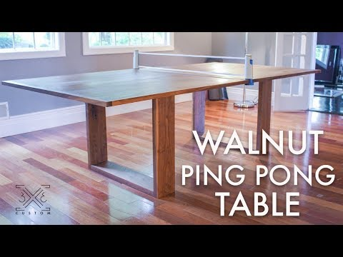 Walnut Ping Pong Table Build