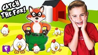 🦊 CATCH the FOX! Flying Chickens, HobbyFamily Game Night w. FNAF Surprises HobbyKidsTV