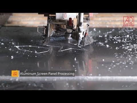 3 Aluminum screen panel /mashrabiya - production process