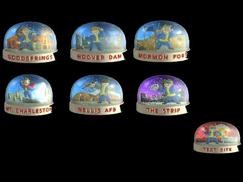 Fallout New Vegas - All Classic Snow Globe!