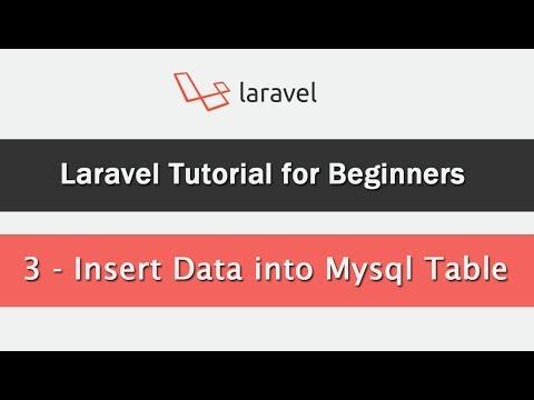 Laravel Tutorial for Beginners - Insert Data into Mysql Table