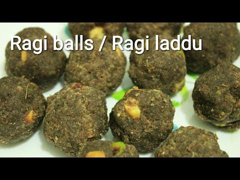 Ragi laddu - Protein ladoo - Protein laddu - Ragi balls - Ragi ladoo - Finger millet recipe