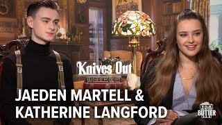 Knives Out: Katherine Langford & Jaeden Martell Interview | Extra Butter