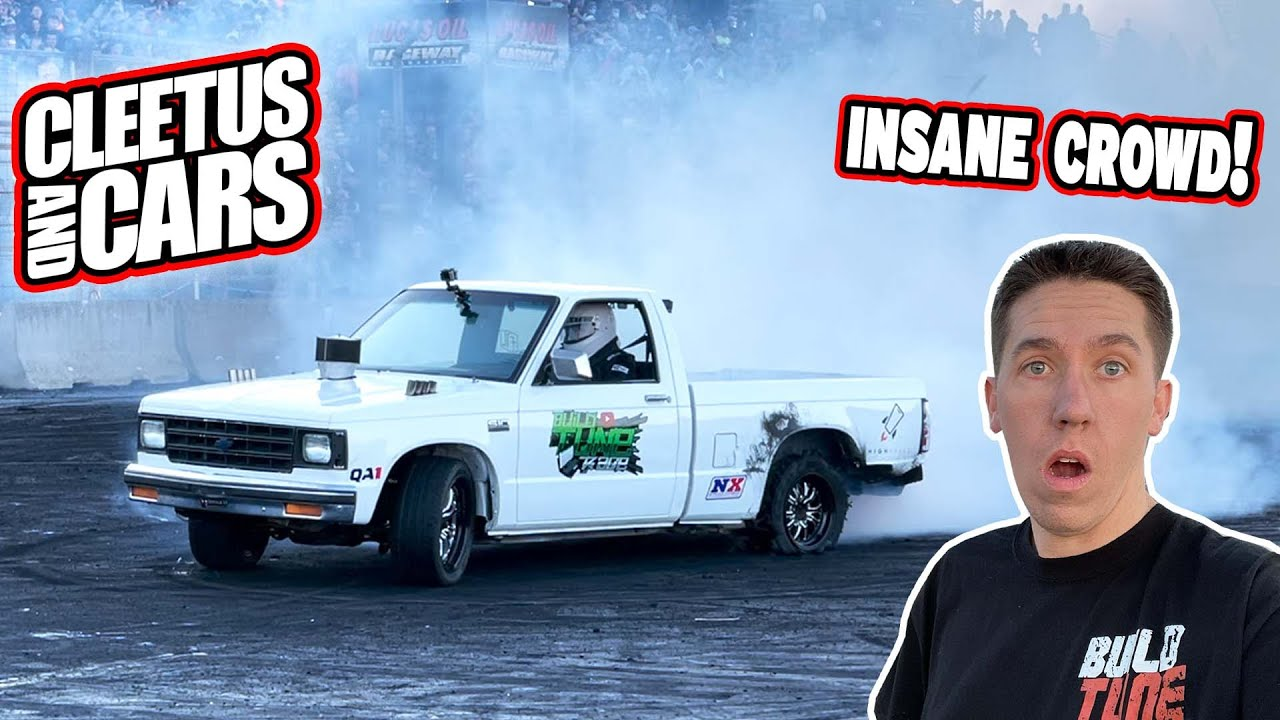 DESTROYING A Set Of Tires In Under 60 Seconds! Cleetus and Cars Indy.