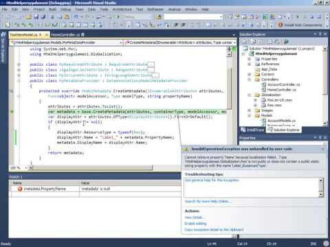 30 - ASP.NET MVC Resources Multi Language Support
