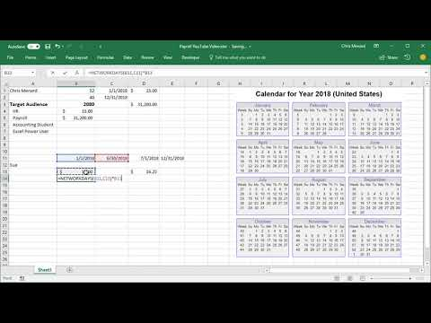 Calculate Annual Salary with annual performance review using Excel by Chris Menard