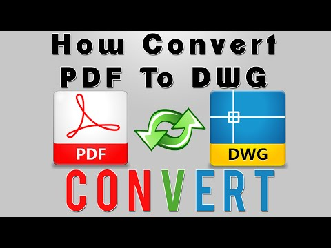 10 Convert PDF to DWG AND DXF   AutoCAD