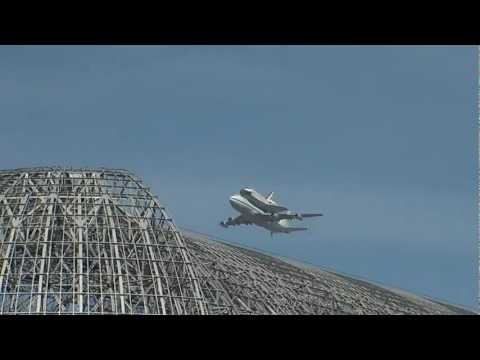 Space Shuttle Endeavour & 747 Fly by at NASA Ames 720 HD