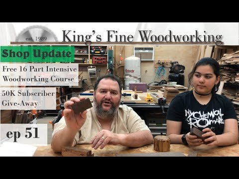 51 - Shop Update, 50K Giveaway, and FREE Woodworking Course