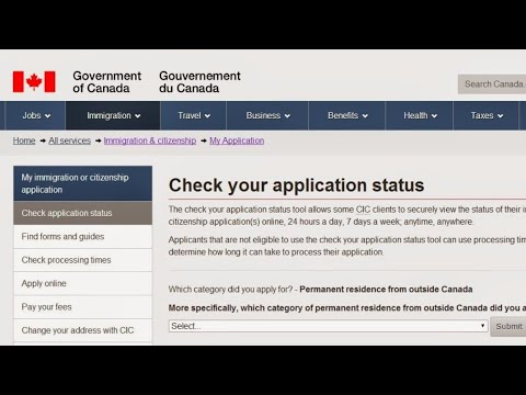 How to check canada visa online via passport no. | canada work visa status check online