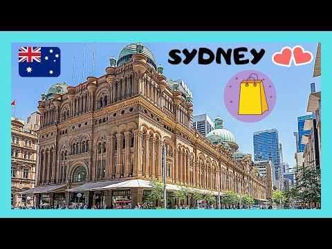 SYDNEY, the beautiful QUEEN VICTORIA (QVB) SHOPPING CENTRE  (AUSTRALIA)