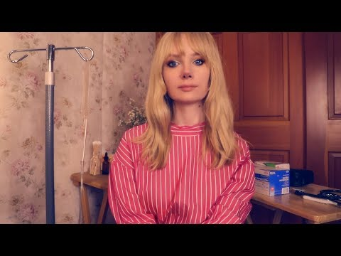 Candy Striper Practices on You 🎀 ASMR Hospital Medical Roleplay
