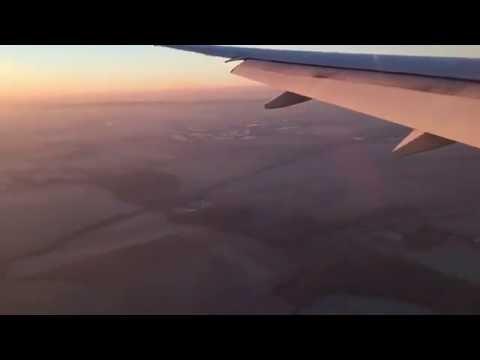 Flight landing in paris france