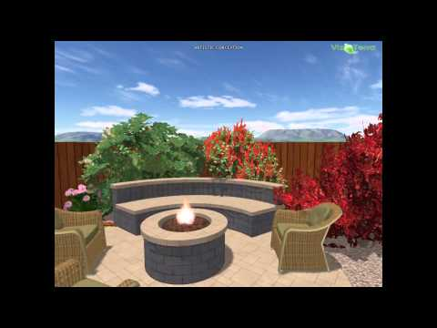 landscape design with fire pit and patio by Dino's landscape & design