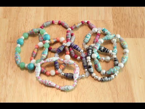 DIY: Paper Bead Bracelets!