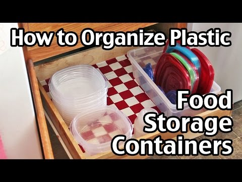 How to Organize Plastic Food Storage Containers In The Kitchen