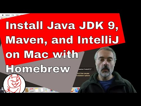 How to install Java SDK 9 with Maven and IntelliJ Using Homebrew on a Mac November 2017 edition