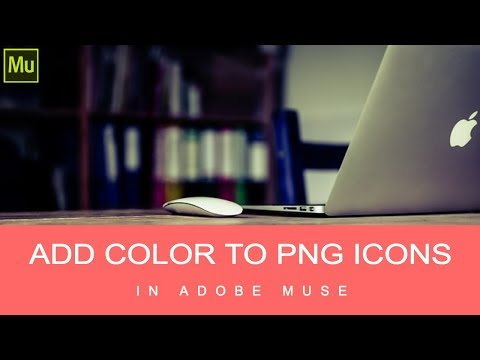 Add color to your PNG icons in Adobe Muse [EASY]