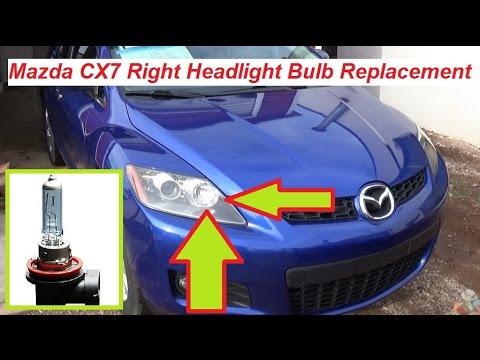 Mazda CX7 CX 7 Right Headlight Light Bulb Replacement Passenger Side