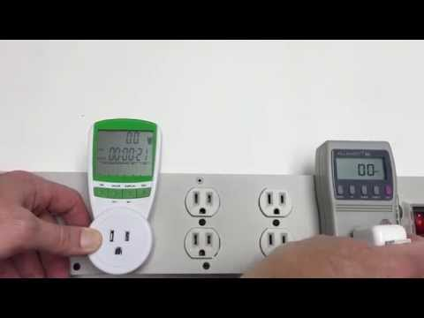 Close look at the Floureon LCD Display Power Meter