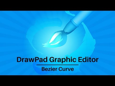 DrawPad Graphic Editor Tutorial | How to Use the Bezier Curve