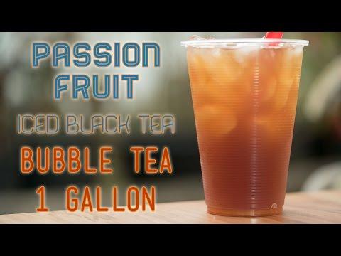 Bubble Tea (Boba) Iced Black Tea Passion Fruit by the Gallon Recipe