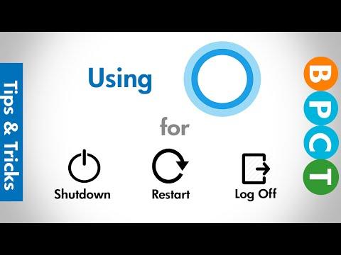 Use Cortana to Shut Down, Restart & Log Off PC | Windows 10