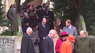 Royal Family and Meghan Markle leave Christmas Day service in Sandringham