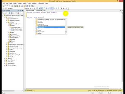 3rd lec using sql server insert values using Qurey and Manual