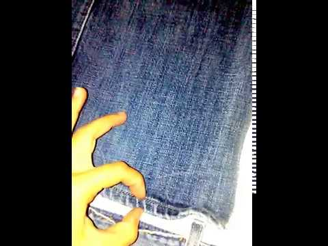 DIY denim jacket using men's denim jeans without using patterns, part 1