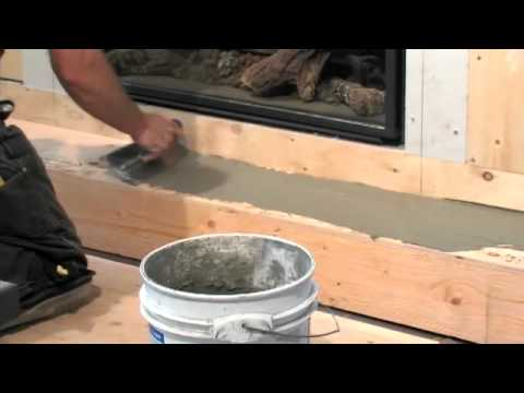 Chapter 2: Installing the Hearth - Solus Installing Concrete Fireplace Surround